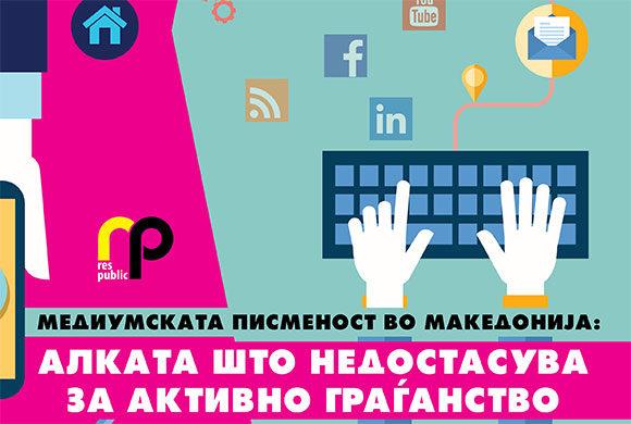 Медиумската писменост во Македонија: алката што недостасува за активно граѓанство